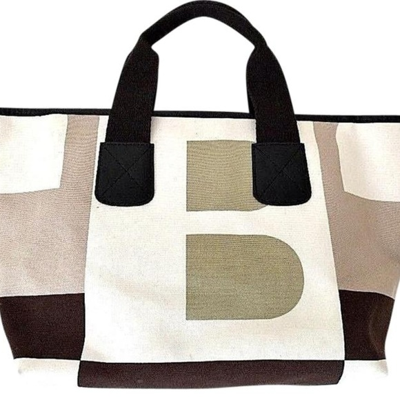 Bally Bags Boothbay Tote Signature Canvas Handbag Bag